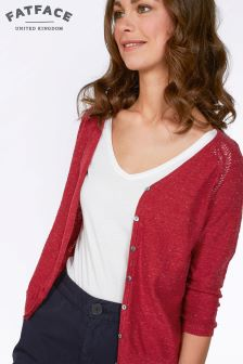 Fat Face Rustic Red Rose Cardi