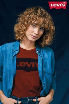 Levi's® Red Dahlia Batwing Perfect Tee