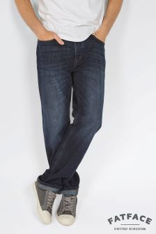 Fat Face Denim Raw Rinse Straight Jeans