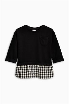 Crew With Mock Layer Shirt (3mths-6yrs)