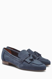 Casual Leather Fringe Loafers