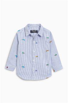 Chemise à rayures et insecte brodé (3 mois - 6 ans)