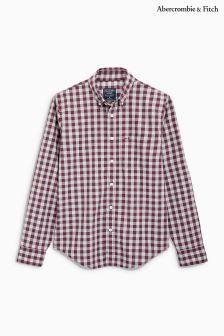 Abercrombie & Fitch Burgundy Check Shirt