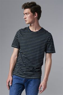 Camiseta de rayas tintada