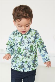 Floral Print Shirt (3mths-6yrs)