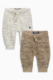Dino Printed Joggers Two Pack (3mths-6yrs)