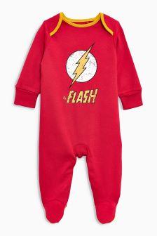 """Śpiochy z nadrukiem """"Flash"""" (0-18 m-cy)"""