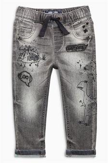 Dinosaur Jersey Denim Jeans (3mths-6yrs)