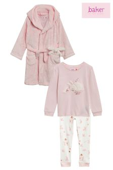 Baker By Ted Baker Pink Three Piece Pyjama Set