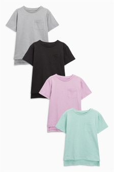 Pastel Short Sleeve T-Shirts Four Pack (3-16yrs)