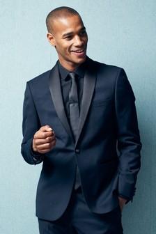 Textured Slim Fit Suit: Jacket