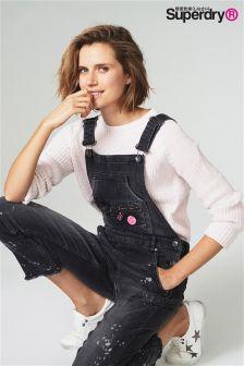 Superdry Blush Pink Knit Jumper