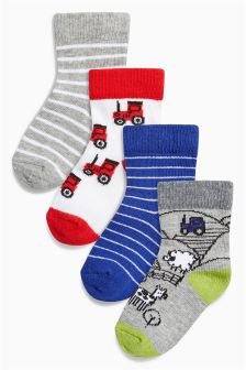Tractor Socks Four Pack (Younger Boys)