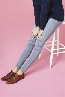 Pull-On Denim Leggings
