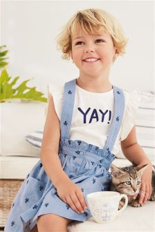 Skirt With Braces And T-Shirt Set (3mths-6yrs)