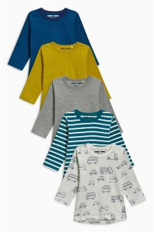 Long Sleeve T-Shirts Five Pack (3mths-6yrs)