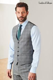 Check Slim Fit Suit: Waistcoat