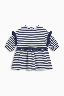 ストライプフリルジャージードレス (0 か月~2 歳)