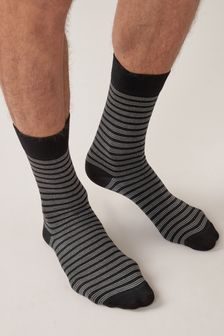 Black Mixed Pattern Socks Four Pack
