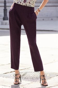 Neppy Texture Taper Trousers