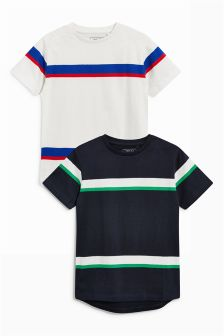 Stripe T-Shirts Two Pack (3-16yrs)
