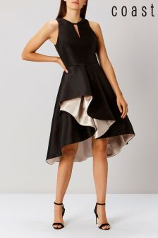 Coast Black Adella Ruffle Dress