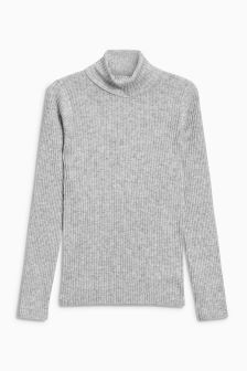 Ribbed Roll Neck (3-16yrs)