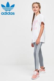 adidas Originals Grey 3 Stripe Legging