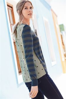 Woven Back Sweater