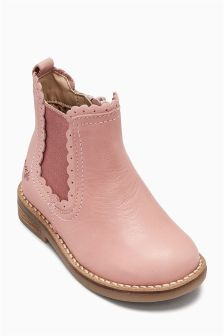 Scallop Chelsea Boots (Younger Girls)