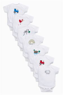 Days Of The Week Short Sleeve Bodysuits Seven Pack (0mths-2yrs)