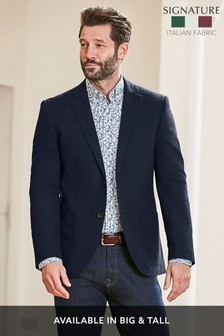 Signature Cotton Tailored Fit Jacket