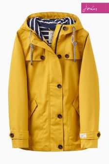 Joules Antique Gold Waterproof Hooded Coast Jacket