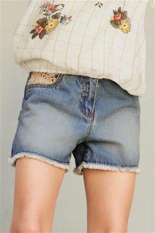 Crochet Detail Shorts (3-16yrs)