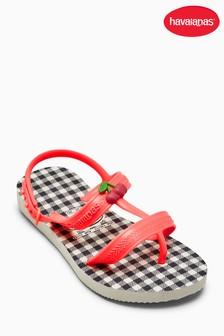 Havaianas White Check Strappy Sandal