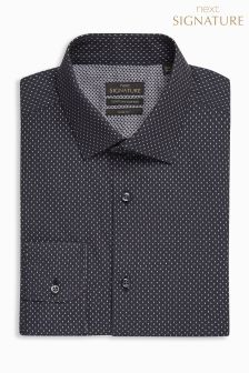 Printed Signature Egyptian Cotton Slim Fit Shirt