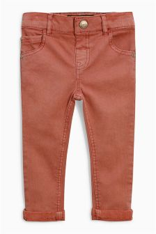 柔软弹力斜纹布长裤 (3个月-6岁)