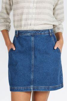 Fat Face Denim Ella Mini Skirt