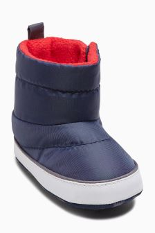 Pram Quilted Boots (Younger Boys)