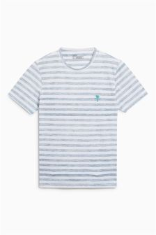 Stripe T-Shirt With Embroidery