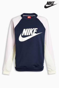 Nike Navy Colourblock Crew