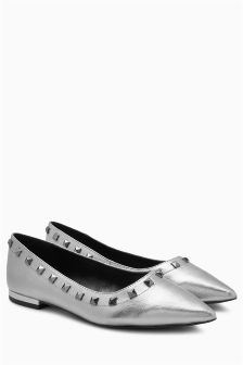 Studded Point Ballerinas