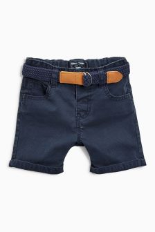 Textured Belted Shorts (3mths-6yrs)