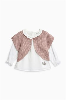Blouse And Cardigan Set (3mths-6yrs)