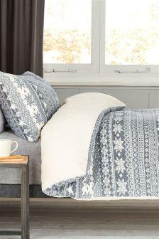Очень мягкое флисовое постельное белье с узором фер-айл