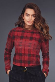 Brushed Check Top
