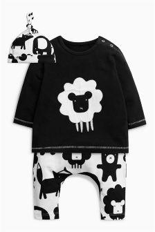 绵羊图案三件套 (0个月-2岁)