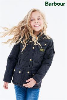 Czarna pikowana kurtka Barbour® International