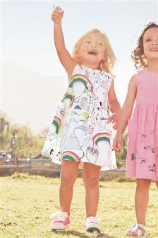 星星印花连衣裙 (3个月-6岁)
