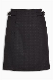 Embossed Mini Skirt